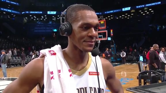 Rondo's postgame interview after a triple-double performance