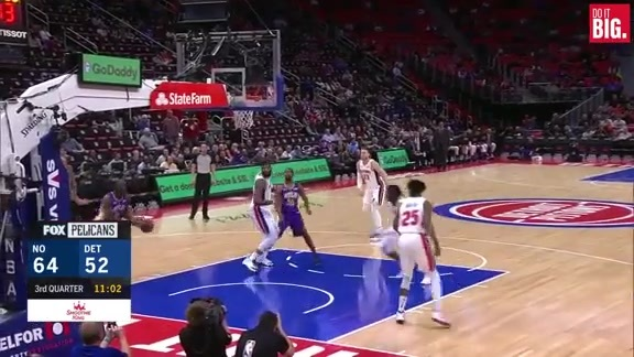 Nice passing leads to Okafor dunk