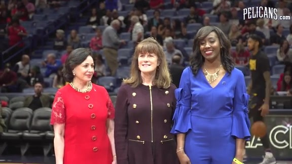 Pelicans Honor Dillard University Athletic Director for Black History Month