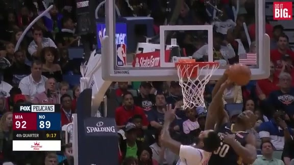 Okafor continues the block party