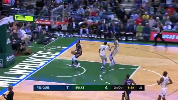 Rajon Rondo with the long feed to AD