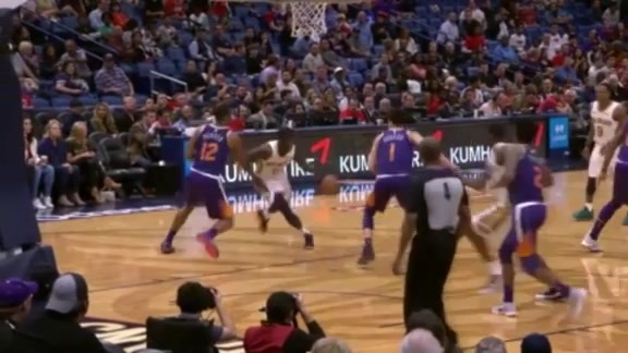 Holiday threads his way through the defense