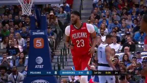 AD keeps it alive & gets the dunk