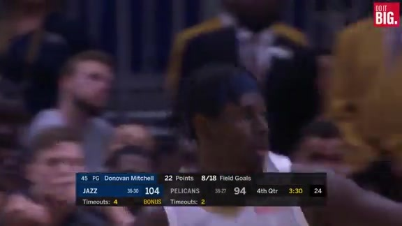 Jrue with two big 3's to keep the Pels close
