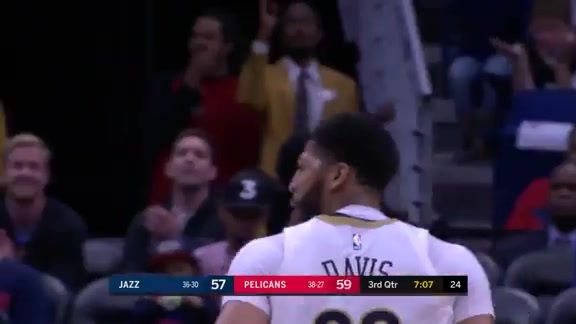 Anthony Davis with a triple double vs Jazz