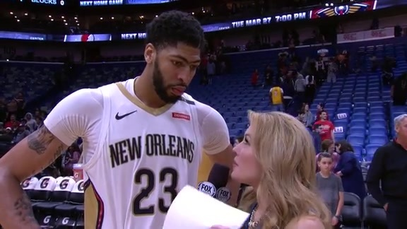 On-Court Postgame Interview: Anthony Davis vs. Lakers