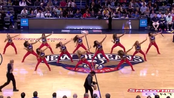 Pelicans Dance Team First Half Performance 03-22-18