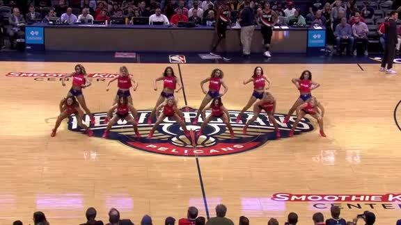 Pelicans Dance Team Performance 03-27-18