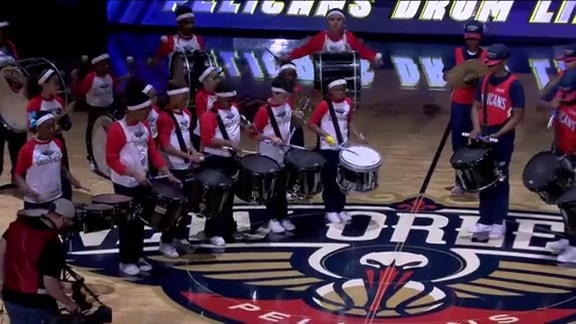 Halftime Performance: Pelicans Drumline and Mini Drummers