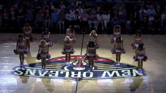 Pelicans Dance Team First Half Performance 04-01-18