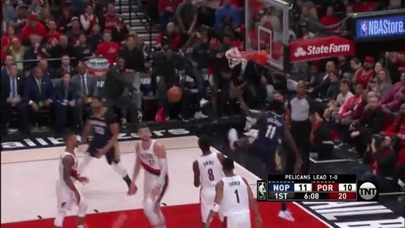 Jrue Holiday drops the hammer