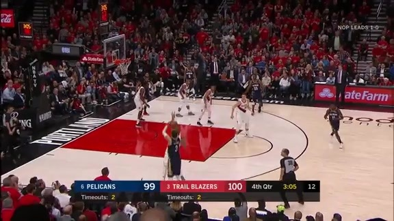 Nikola Mirotic drains a contested three