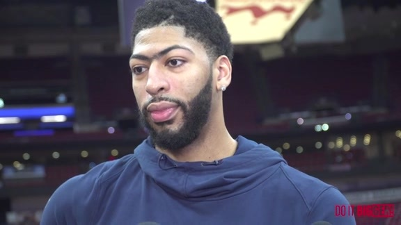 Pelicans-Trail Blazers Shootaround Game 3: Anthony Davis 4-19-18