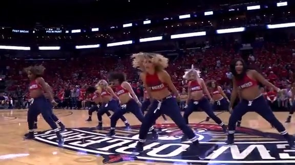 Pelicans Dance Team Second Half Performance 04-19-18
