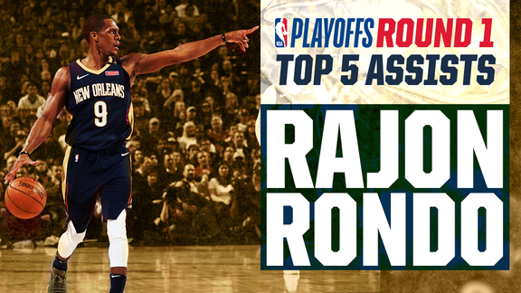 Rajon Rondo's Top 5 Assists from Round 1