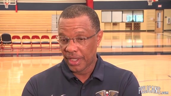 Pelicans vs Warriors Playoff Practice: Alvin Gentry 04-26-18