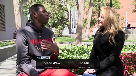 Jen Hale one-on-one with Cheick Diallo
