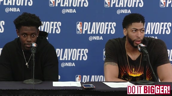 Pelicans vs. Warriors Game 3 Postgame: Anthony Davis and Jrue Holiday 5-4-18