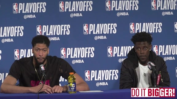 Pelicans vs Warriors Game 5 Postgame: Anthony Davis and Jrue Holiday 5-8-18
