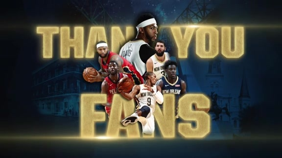 Thank You Pelicans Fans