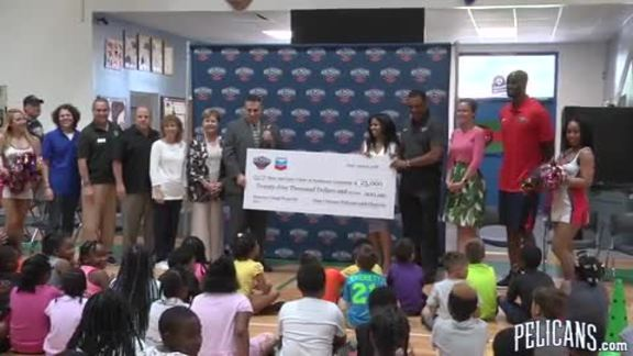Pelicans and Chevron donate to Boys & Girls of Southeast Louisiana