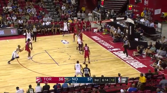 Tony Carr drives to the rim and finishes high off the glass