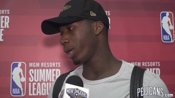 Pelicans-Heat Postgame with Cheick Diallo