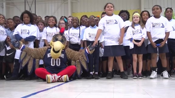 The King Firm, Pelicans host King of the Classroom Tip-Off Assembly
