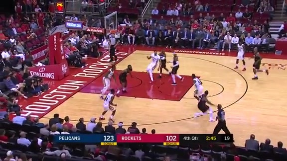 E'Twaun Moore puts up 21 against the Houston Rockets