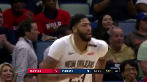 Game Leader: Anthony Davis scores 34 against the LA Clippers