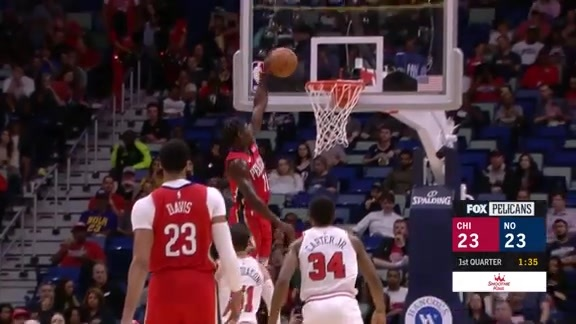 Jrue Holiday throws down the hammer