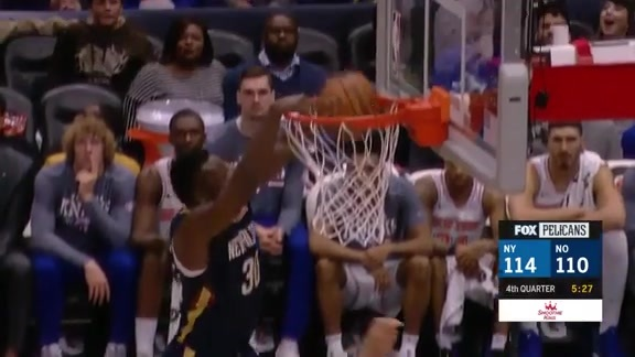 Pelicans Steal for the Julius Randle Monster Slam
