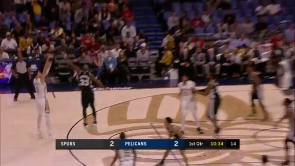 Holiday connects with Mirotic to drain the three