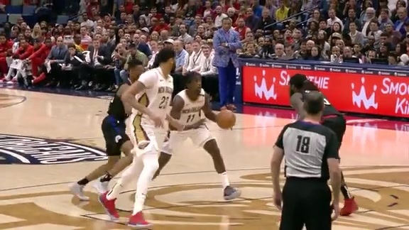 Anthony Davis guides it home