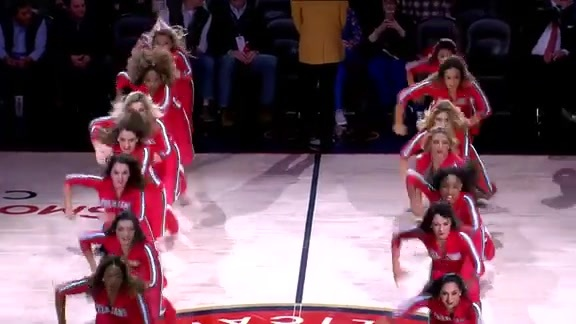 Pelicans Dance Team Second Half Performance 12-03-18
