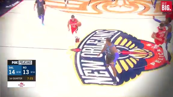 Frazier with the steal Julius with the finish