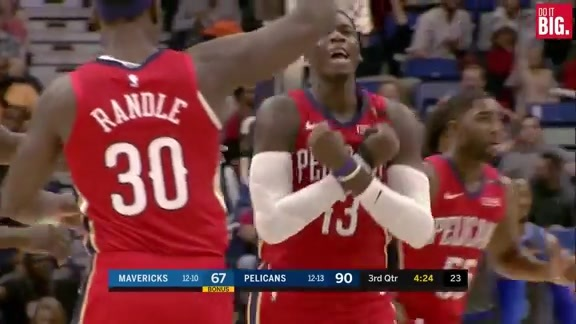 Cheick with the high-flying dunk