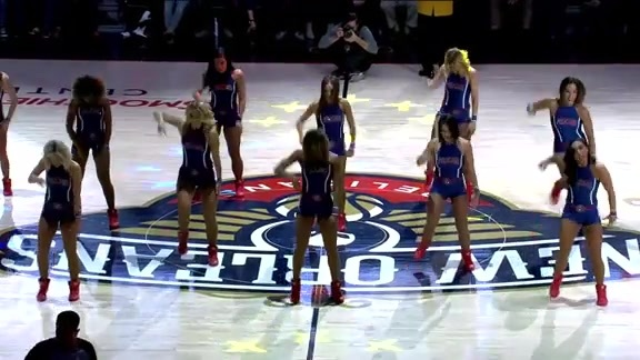 Pelicans Dance Team Second Half Performance 12-05-18