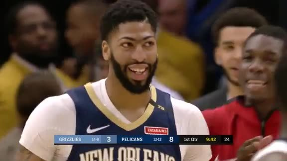 Pelicans live above the rim in the first half
