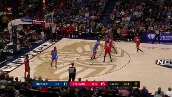 Julius Randle steps up and throws down 22 points against Thunder