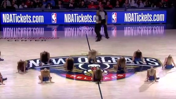 Pelicans Dance Team First Half Performance 12-12-18
