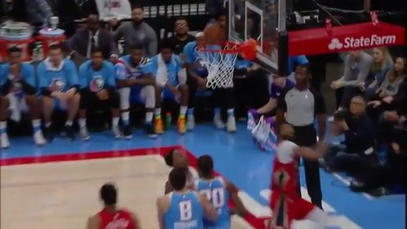 AD floats for the alley-oop layup