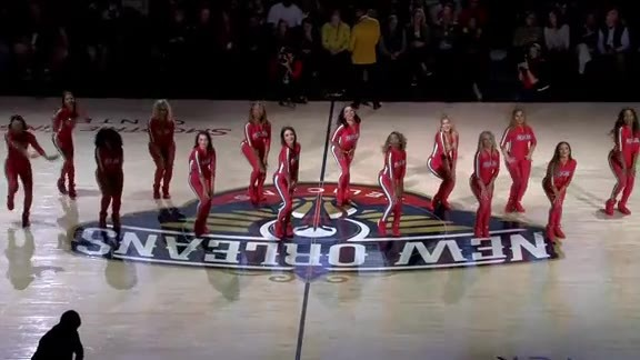 Pelicans Dance Team Second Half Performance 12-29-18