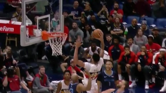 AD with a huge dunk to end the half
