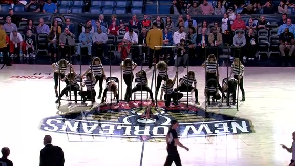 Pelicans Dance Team First Half Performance 01-07-19