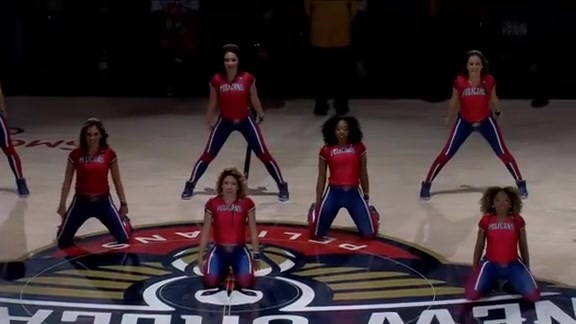 Pelicans Dance Team Second Half Performance 01-07-19