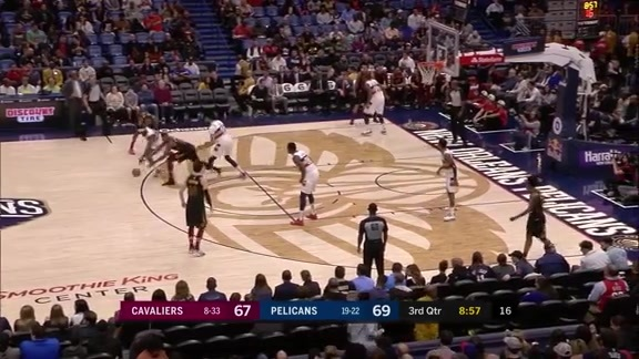 Jrue Holiday eases his way to 18 against the Cavaliers