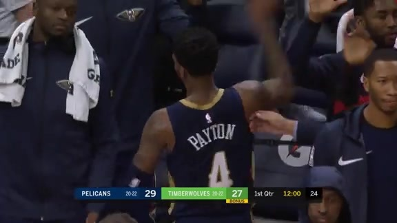 Elfrid with the heads up buzzer beater