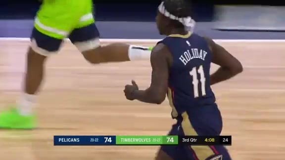 Jrue goes behind the back for the bucket