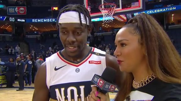 Pelicans On-Court Postgame Interview: Jrue Holiday vs. Grizzlies
